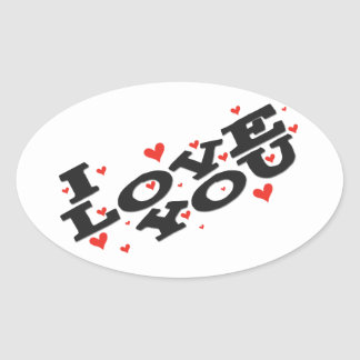 Tell someone you love them - Customisable Oval Sticker