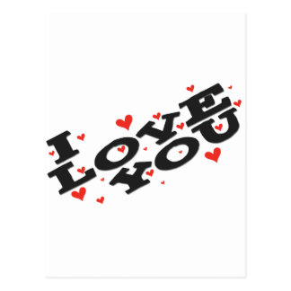 Tell someone you love them - Customisable Postcard