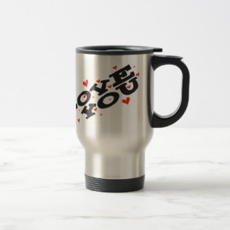 Tell someone you love them - Customisable Stainless Steel Travel Mug