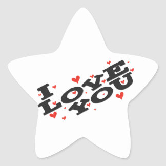Tell someone you love them - Customisable Star Sticker