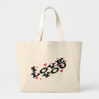 Tell someone you love them - Customisable Jumbo Tote Bag