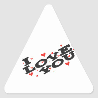 Tell someone you love them - Customisable Triangle Sticker