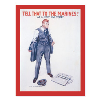 Tell That To World War 2 Post Card
