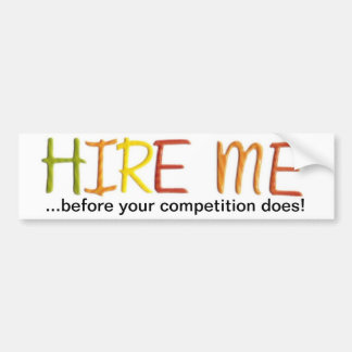 Tell the Business World You Love To Work Bumper Sticker