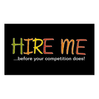 Tell the Business World You Love To Work Double-Sided Standard Business Cards (Pack Of 100)