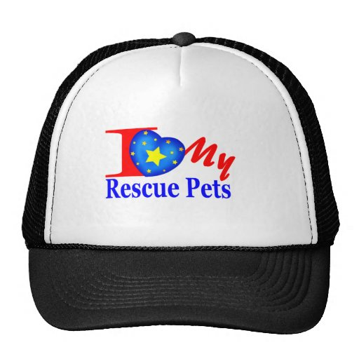 """""""Tell The World"""" I Love My Rescue Pets Hats"""