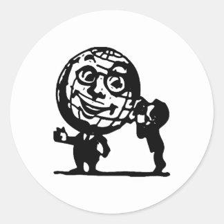 Tell the World Round Sticker