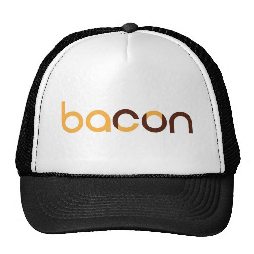 Tell the world you run for bacon! hats