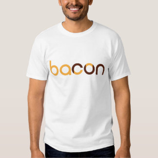 Tell the world you run for bacon! tshirts