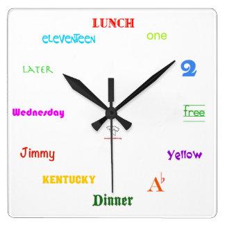 Telling Time-White Square Clocks