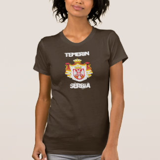 Temerin, Serbia with coat of arms T-shirts