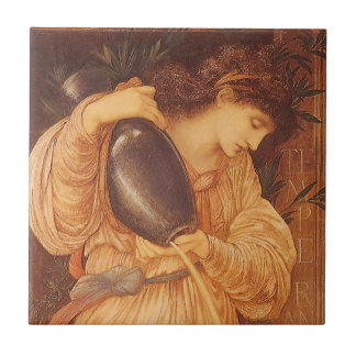 Temperantia by Burne Jones, Vintage Victorian Art Tile