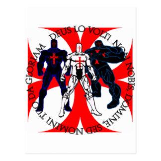 Templar Superheroes Postcard