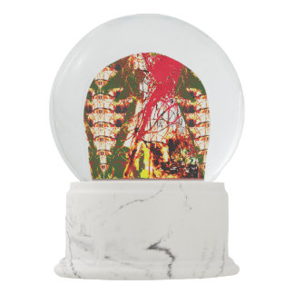 Template DIY customize add image text personalize Snow Globes