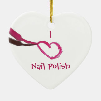 Template Love Nail Polish Christmas Ornament