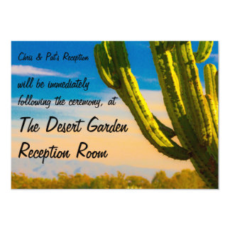 Template Saguaro Cactus Desert Reception Card