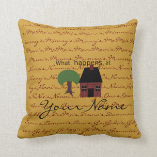 Template: What Happens at ...Stays at.... Throw Pillow