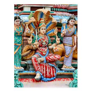 Temple carvings postcard