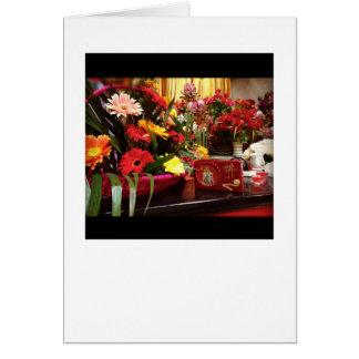 Temple - decorative flower display card