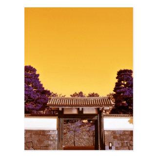 Temple gate in Tokyo, Japan Postcard