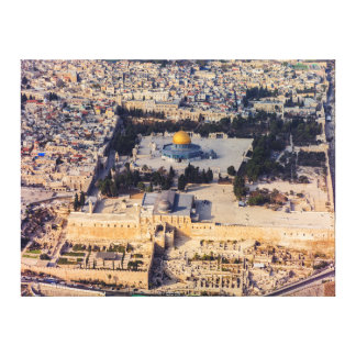 Temple Mount Old City Jerusalem Dome of the Rock Canvas Print