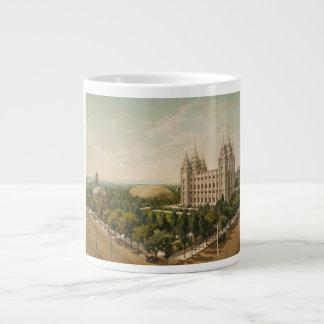 Temple Square Salt Lake City Utah in 1899 Jumbo Mug