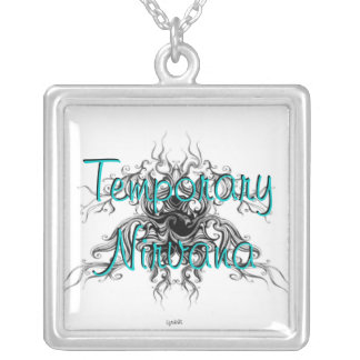 Temporary nirvana silver plated necklace