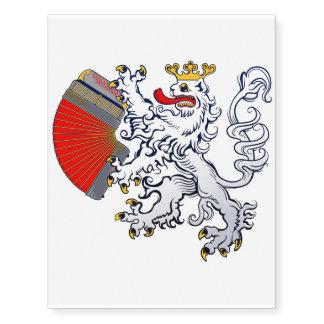 Temporary Tattoo of the Bohemian Lion