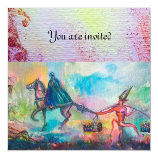 TEMPTATION 13 CM X 13 CM SQUARE INVITATION CARD
