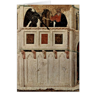 Temptation Of Christ Of The Temple By Duccio Greeting Card