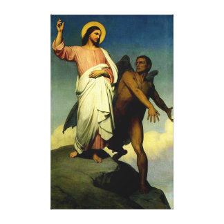 Temptation of Christ Stretched Canvas Print
