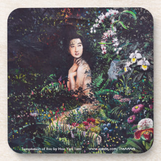 Temptation of Eve Watercolor Painting Drink Coasters