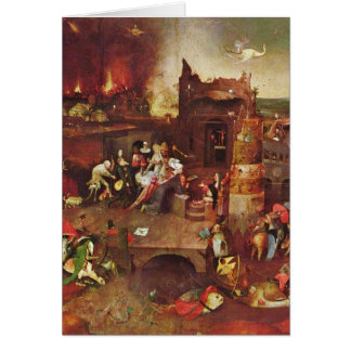 Temptation Of St.Anthony By Hieronymus Bosch Card
