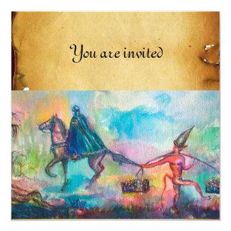 "TEMPTATION parchment 5.25"" Square Invitation Card"