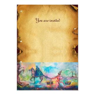 """TEMPTATION parchment 5"""" X 7"""" Invitation Card"""