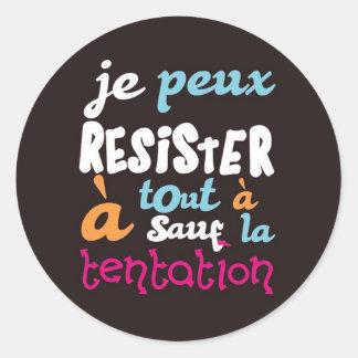 Temptation Round Sticker