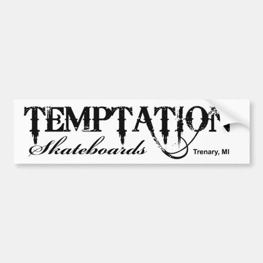 Temptation Skateboards Bumper Sticker