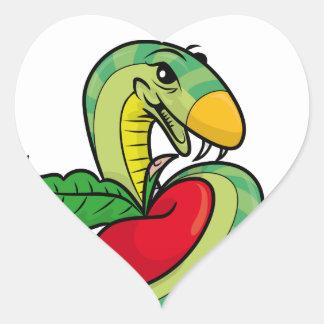 Temptation Snake Accessories Heart Sticker