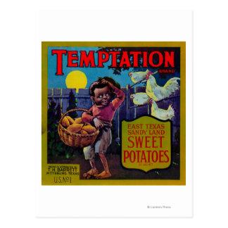 Temptation Yam LabelPittsburg TX Postcards
