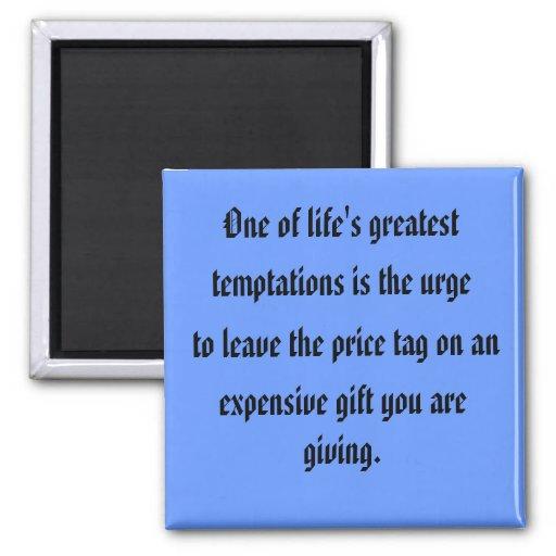 temptations fridge magnet