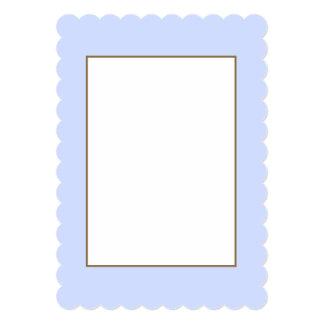 Tender Baby Blue Sky Blue Pastel for Summer Gazebo 13 Cm X 18 Cm Invitation Card