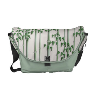 Tender bamboo green courier bags