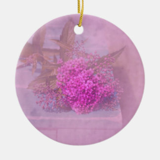 tender blooms round ceramic decoration