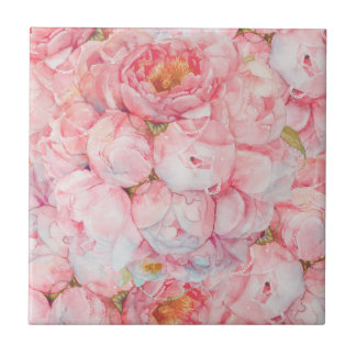 Tender bouquet small square tile