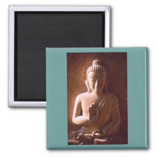 Tender Faced Buddha Square Magnet