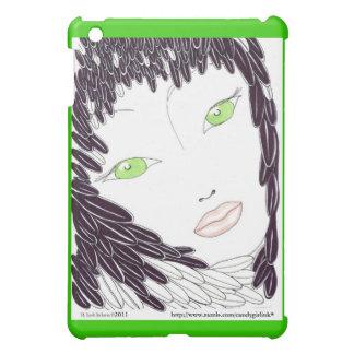 """Tender Feathered""-Black / Speck Case iPad Mini Cases"