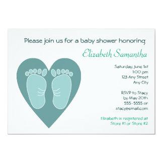 Tender Feet Blue Shower Invitation