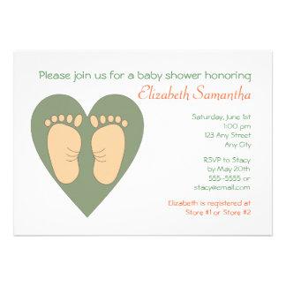 Tender Feet Shower Invitation