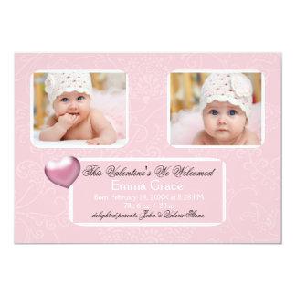 Tender Heart Photo Birth Announcement