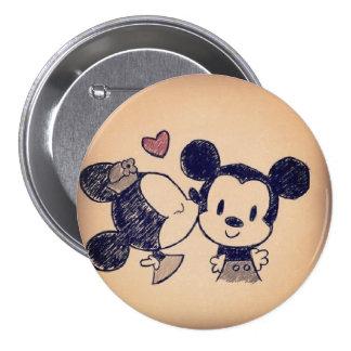Tender kiss 7.5 cm round badge